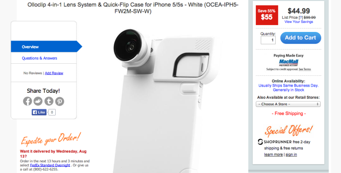 Olloclip4-in-1 Lens System & Quick-Flip Case for iPhone 5:5s (white)-sale-02