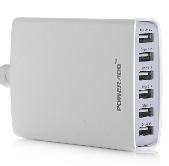 Poweradd 50W 6-Port Family-Sized USB Desktop Charger
