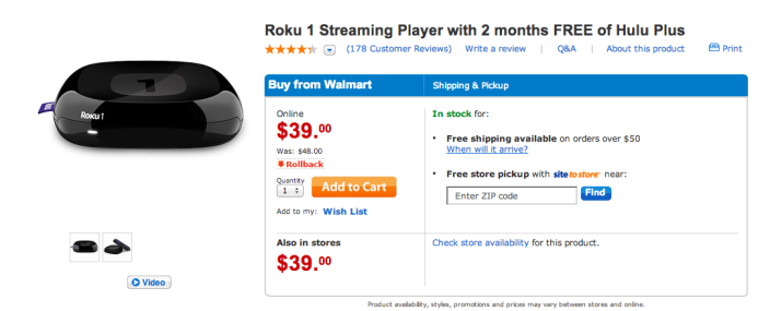 Roku 1 streaming media player-sale-01