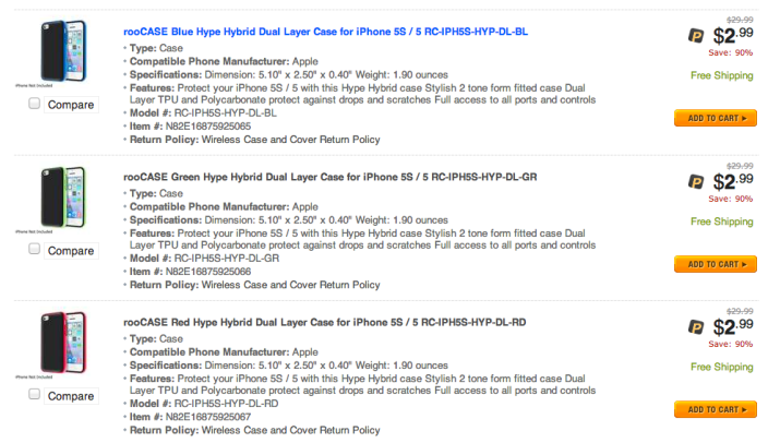rooCASE Dual Layer Armor Case for iPhone 5C-Newegg-sale-03