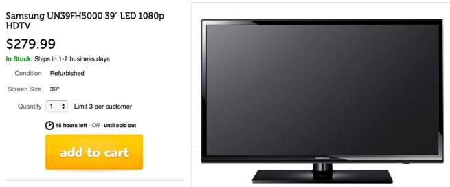 Samsung UN39FH5000 39%22 LED 1080p HDTV