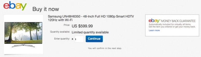 Samsung UN48H6350 48-Inch 1080p 120Hz Smart HDTV