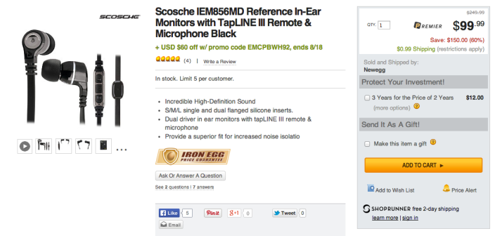Scosche IEM856MD Reference In-Ear headphones with tapLINE III remote & microphone-sale-03