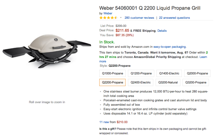 Weber Q 2200 Liquid Propane Grill (54060001)-sale-Amazon-02