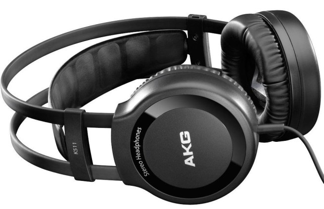 AKG K 511 Hi-Fi Stereo Over-Ear Headphone with 1:4-Inch (6.3MM) Jack Adapter