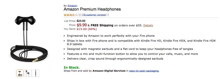 Amazon Basic Premium headphones