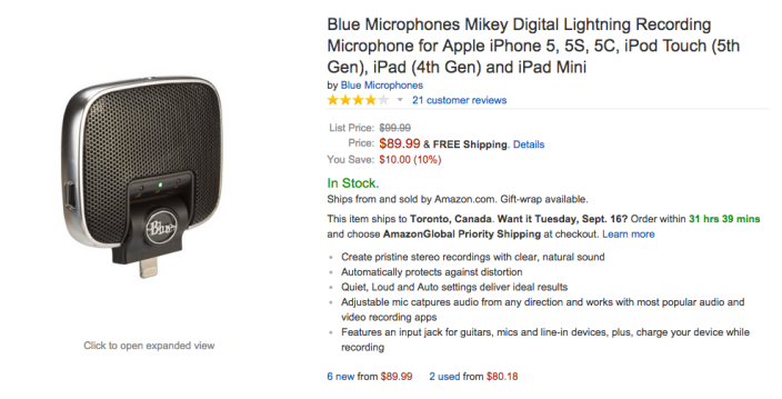 Blue Microphones Mikey Digital Lightning Microphone-sale-Amazon-03