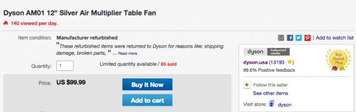Dyson AM01 12%22 Silver Air Multiplier Table Fan-sale-02