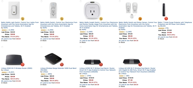 Gold Box Deal of the Day- 20% or More Off Select Belkin, WeMo, and Linksys Home Automation Products