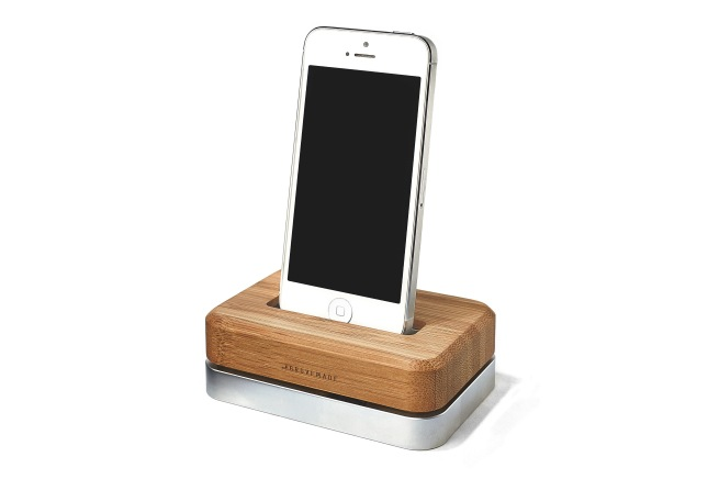 Grove Dock - Bamboo & Silver Steel - Front
