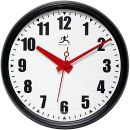 Infinity Instruments 15%22 Impact Commercial Analog Wall Clock, Black