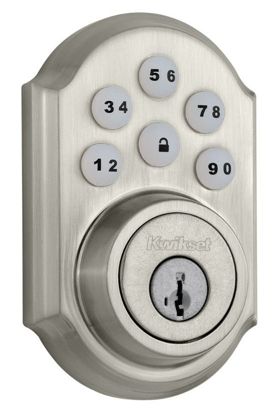 Kwikset 909 SmartCode® Electronic Deadbolt featuring SmartKey (Satin Nickel)-sale-01