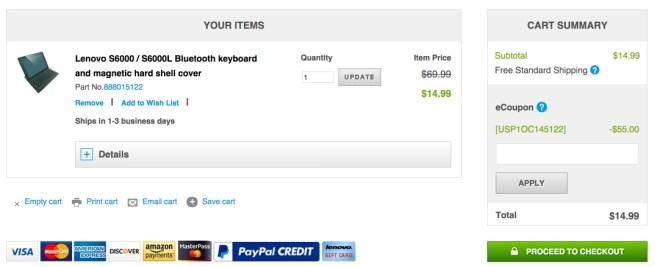 Lenovo BT Keyboard coupon