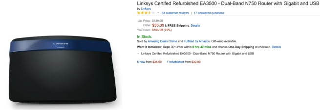 Linksys amazon certified refurbished