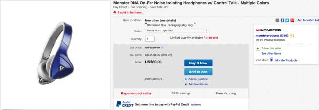 Monster DNA On-Ear Noise Isolating Headphones