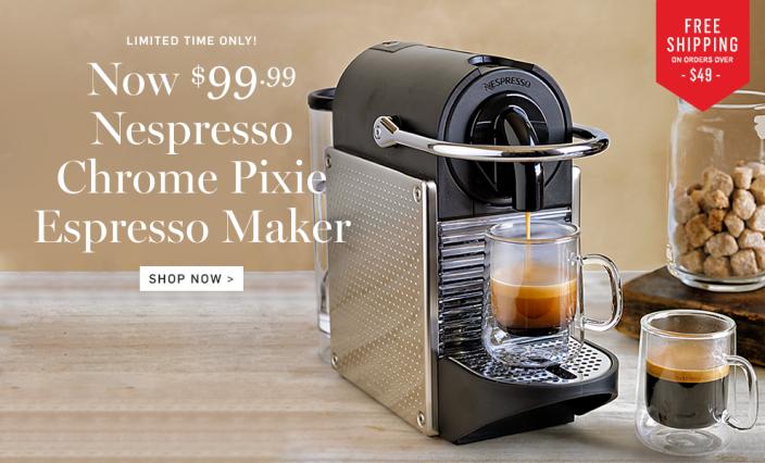 Nespresso Pixie Espresso Maker (Aluminum)-sale-01