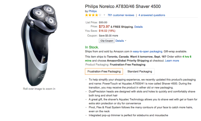 Philips Norelco Shaver 4500 (AT830:46)-sale-02
