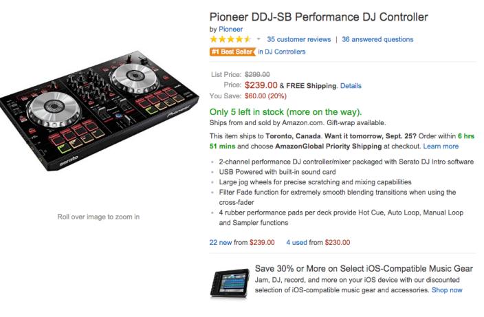 Pioneer DDJ-SB Performance DJ Controller-sale-02
