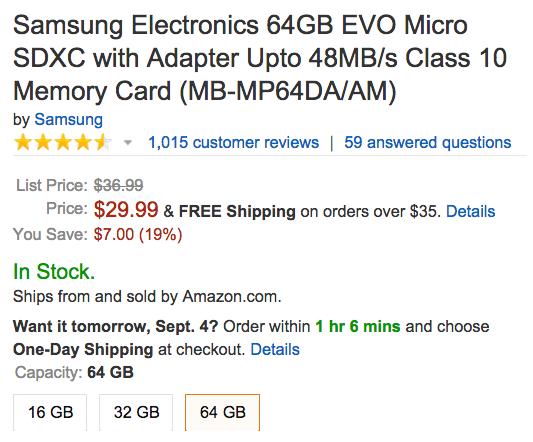 samsung-evo-64gb-microsd-amazon-deal
