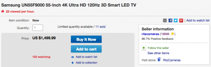 Samsung UN55F9000 55-Inch 4K Ultra HD 120Hz 3D Smart LED TV-sale-02