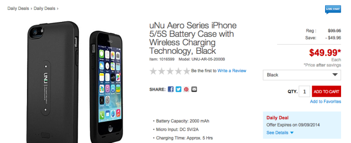 uNu Aero Series iPhone 5:5S Battery Case with Wireless Charging Technology-sale-03