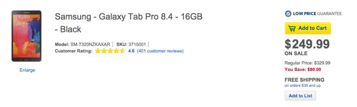 8.4-inch Samsung Galaxy Tab Pro Tablet in black-SM-T320NZKAXAR-sale-04