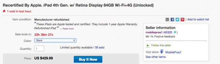 Apple iPad w: Retina display 64GB AT&T LTE-eBay-sale-01