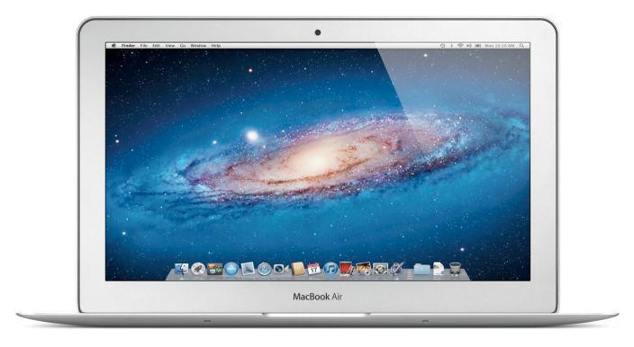 Apple Macbook Air 11.6'' Unibody Laptop with Intel Core 2 Duo 1.4Ghz Processor, 2GB Ram, 64GB Flash Storage, HD Webcam, Bluetooth, Wi-Fi and Mac OS X 10.7