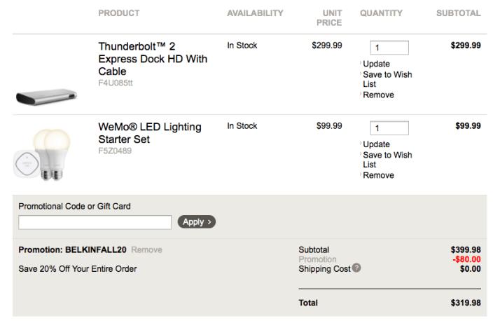 belkin-wemo-thunderbolt-express-dock-coupon-code-deal