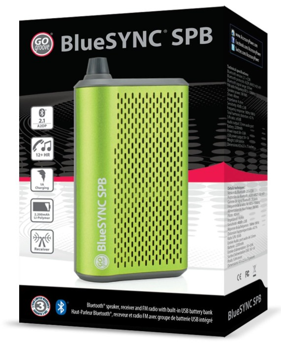 BlueSYNC_SPB speaker receiver FM radio battery