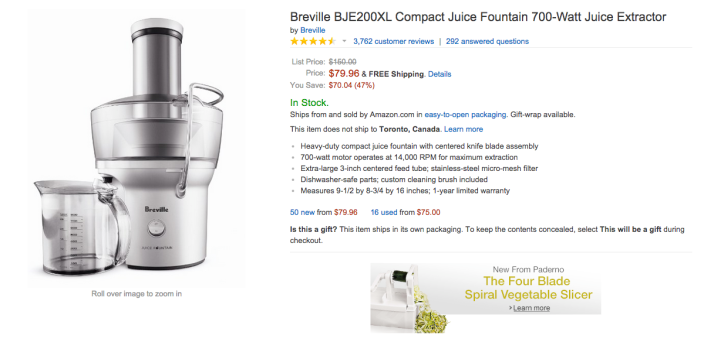 Breville Compact Juice Fountain 700-Watt Juice Extractor-BJE200XL-sale-04