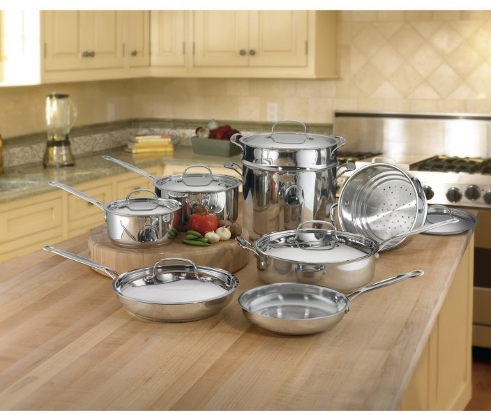 Cuisinart 14-Piece Classic Stainless Steel Cookware Set-sale-01
