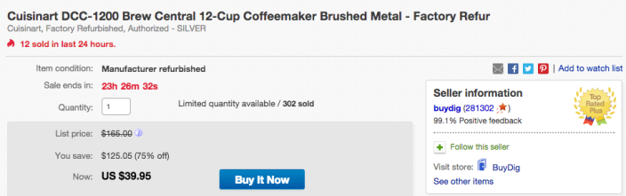 Cuisinart DCC-1200 Brew Central 12-Cup Coffeemaker Brushed Metal-sale-eBay-02