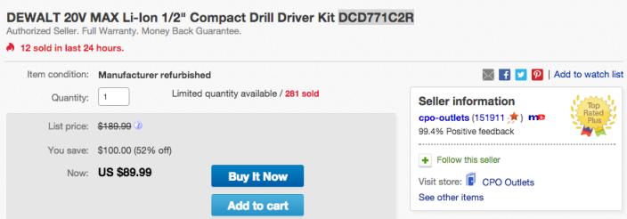 DCD771C2I-DeWALT 20V MAX Li-Ion 1:2%22 Compact Drill Driver Kit-02