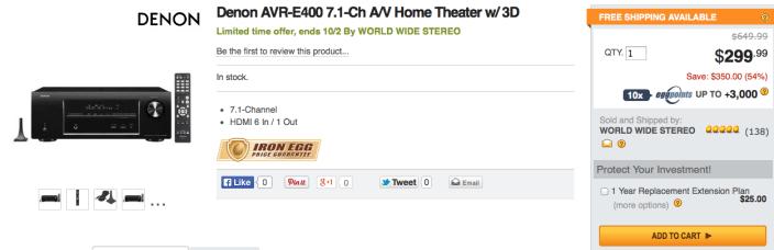 Denon-AVR-E400-newegg-deal