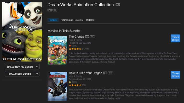 DreamWorks-Animation-itunes-collection-deal