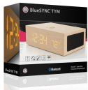 GOgroove BlueSYNC TYM Bluetooth Wireless Stereo Speaker Wooden Alarm Clock