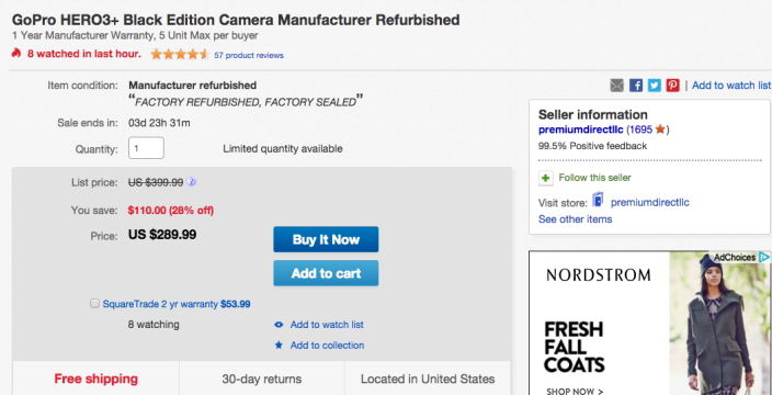 GoPro-hero3-plus-black-refurb-ebay-deal