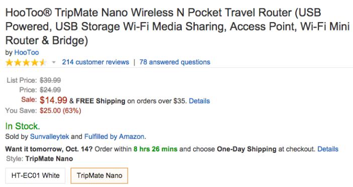 hootoo-TripMate-Nano-amazon-deal