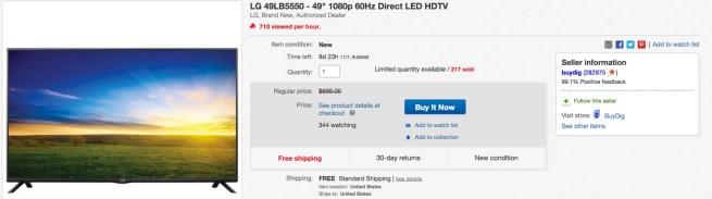 LG 49%22 eBay 1080p