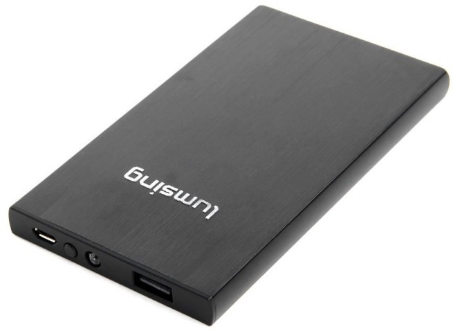 Lumsing® 6000mAh Ultrathin Portable Power Bank External Battery Pack Backup Charger