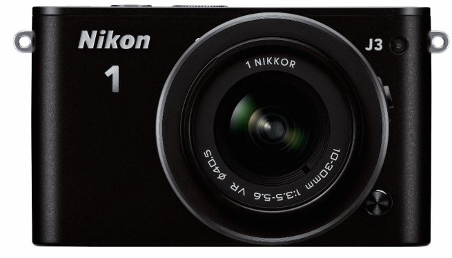 Nikon 1 J3 14.2MP Black Digital Camera with 10-30mm VR Lens