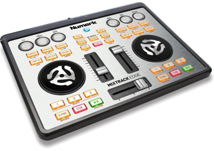 Numark Mixtrack Edge Slimline USB DJ Controller with Integrated Audio Output-sale-01
