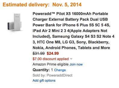 Poweradd™ Pilot X5 16000mAh Portable Charger External Battery Pack Dual USB