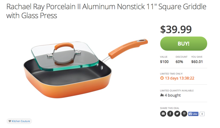 Rachael Ray Porcelain II Aluminum Nonstick 11%22 Square Griddle with Glass Press-sale-01