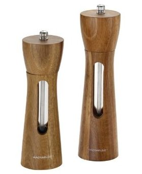 Rachael Ray Tools and Gadgets 2-Piece Natural Acacia Wood Salt and Pepper Grinder Set-sale-01