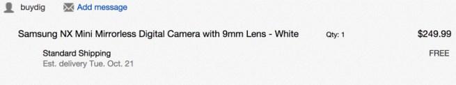Samsung NX Mini Mirrorless Digital Camera with 9mm Lens in white ebay