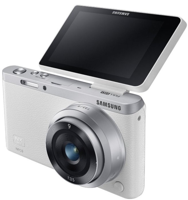 Samsung NX Mini Mirrorless Digital Camera with 9mm Lens in white
