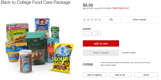 Target college food bundle