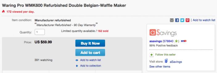 Waring Pro Double Belgian-Waffle Maker-WMK600-sale-02